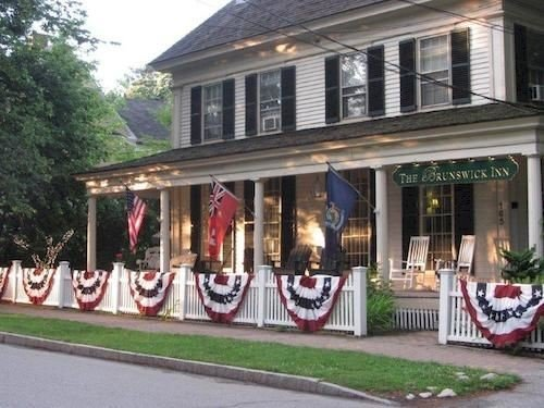 tree road building property home house porch restaurant lined
