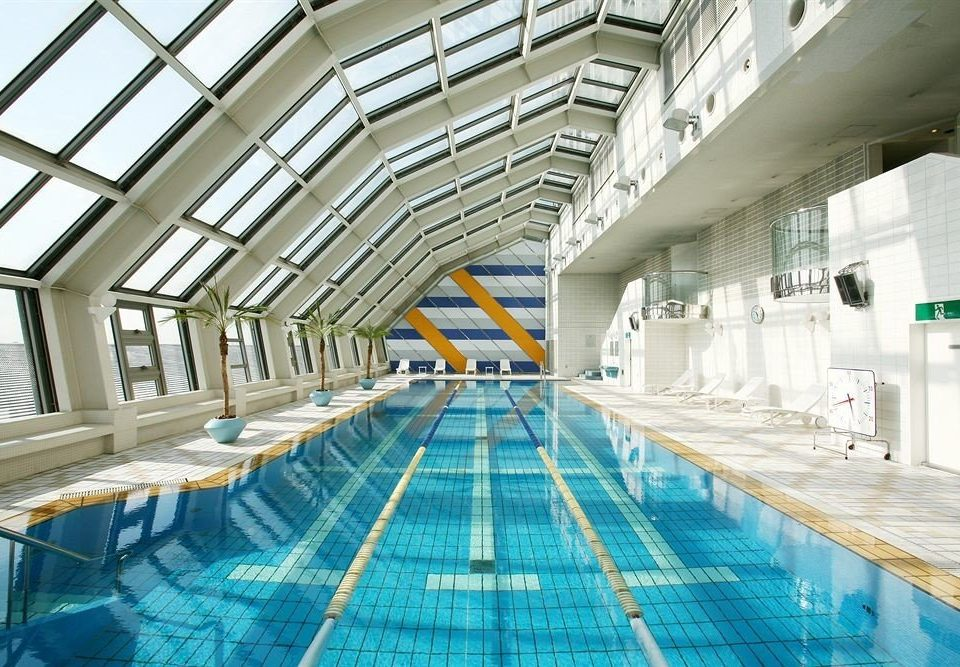 swimming pool building leisure centre platform walkway