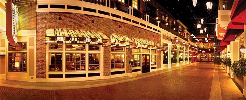 building plaza night shopping mall