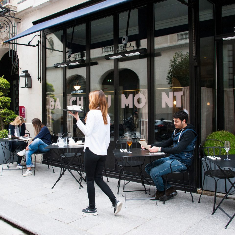 building road street restaurant