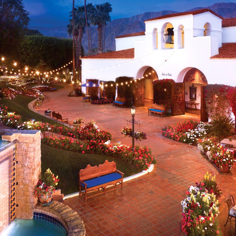 Buildings Elegant Exterior Luxury hacienda Resort home Villa backyard Christmas