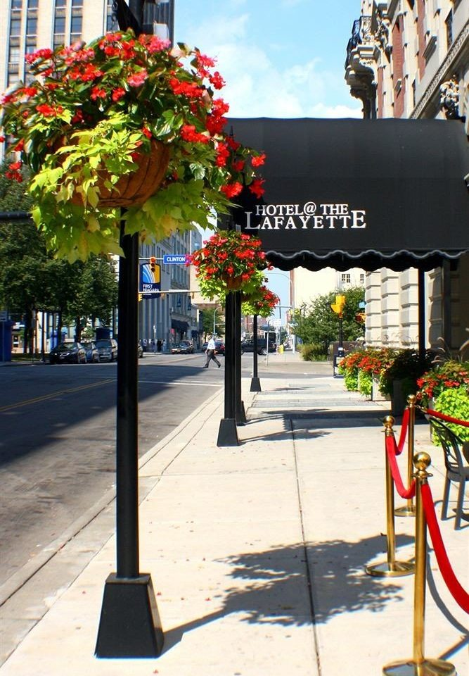 Buildings City Exterior color public space road street Downtown art flower travel restaurant sidewalk
