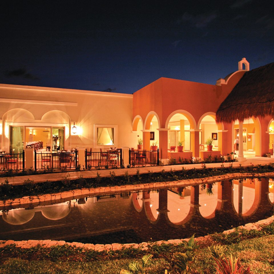 Buildings Elegant Exterior Pool night landmark light house evening lighting hacienda