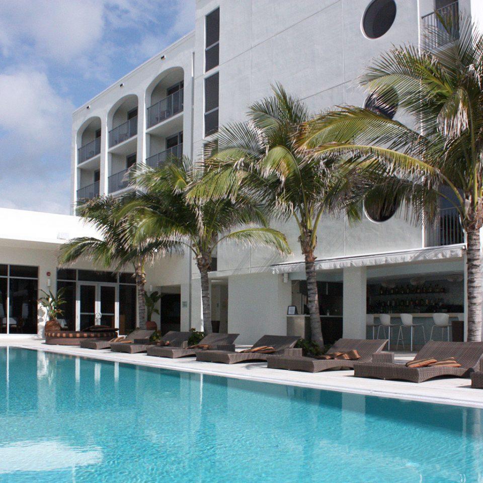 Buildings Exterior Luxury Pool building Resort condominium property swimming pool leisure Villa home mansion hacienda swimming blue