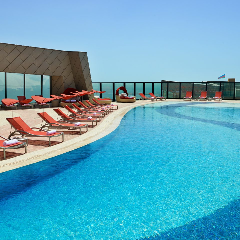 Buildings Exterior Luxury Pool Romantic sky water leisure swimming pool chair Resort swimming blue Water park Sea
