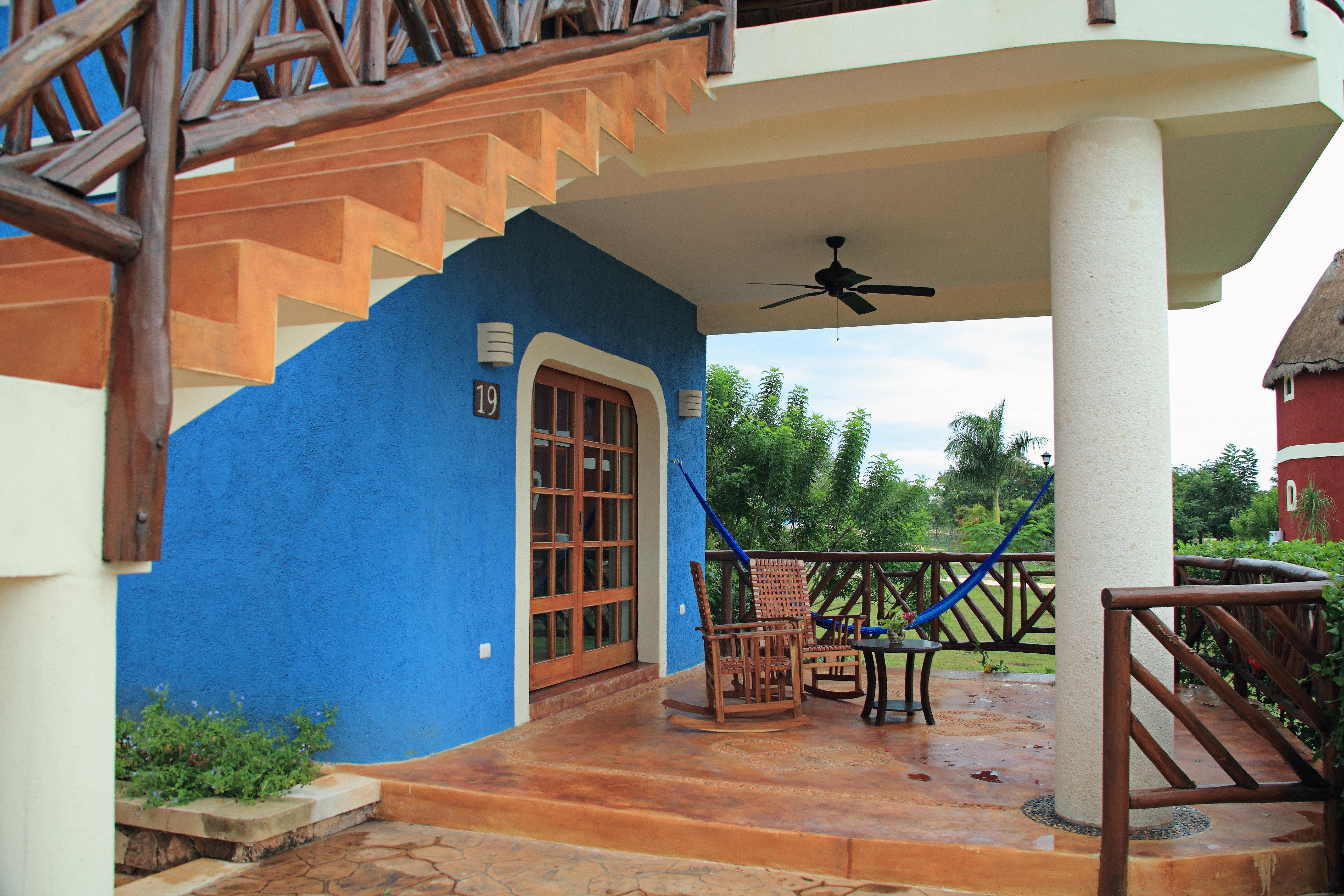 Buildings Exterior Tropical property house home Villa hacienda porch cottage outdoor structure Resort backyard