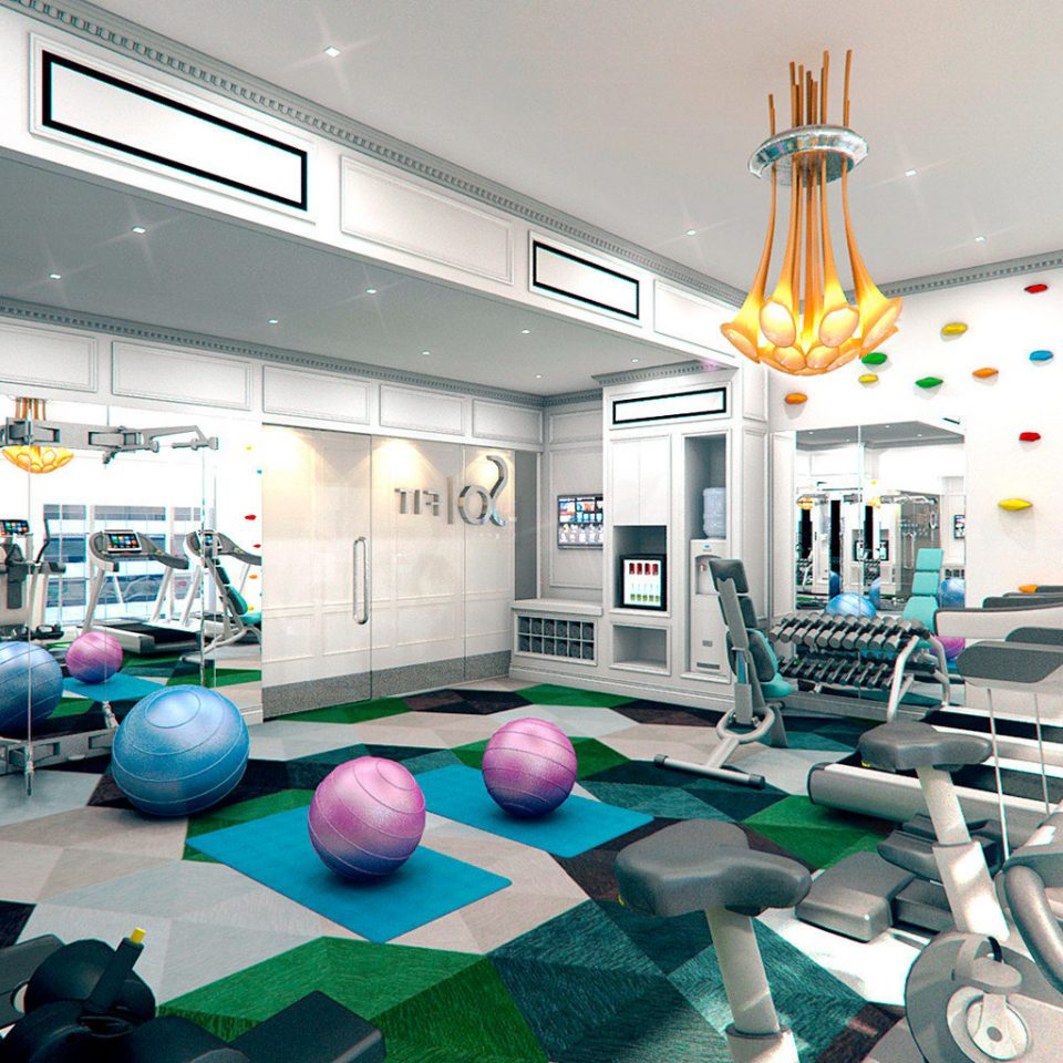Business City Fitness Luxury Modern structure leisure gym sport venue operating theater office