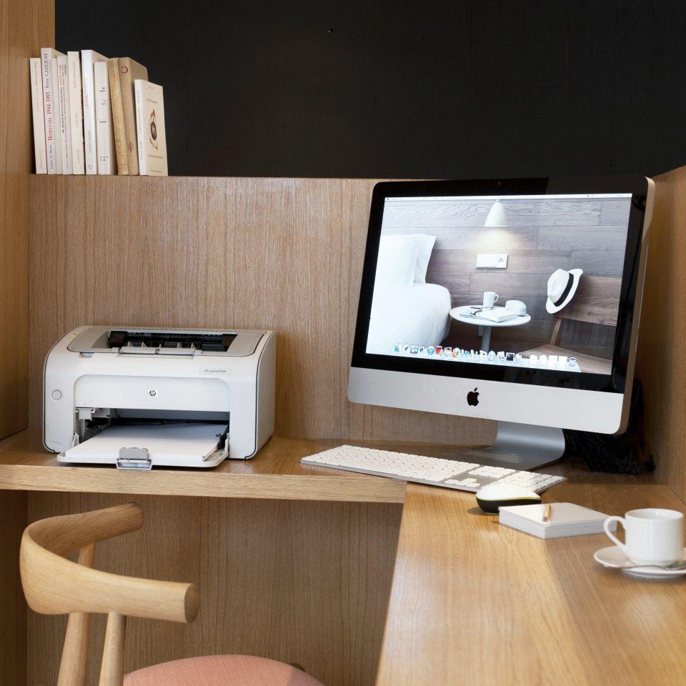 Business City Hip Modern living room home desk wooden shelf