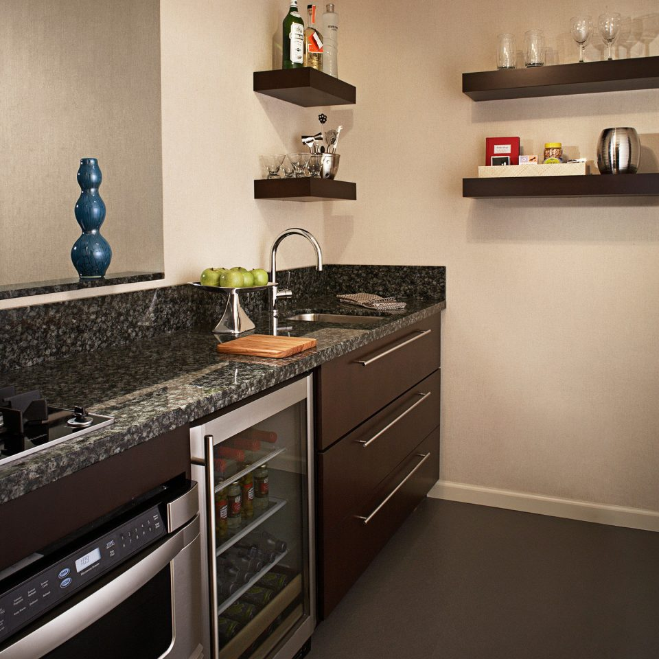 Business City Modern Kitchen property countertop home cabinetry hardwood flooring counter cottage wood flooring kitchen appliance