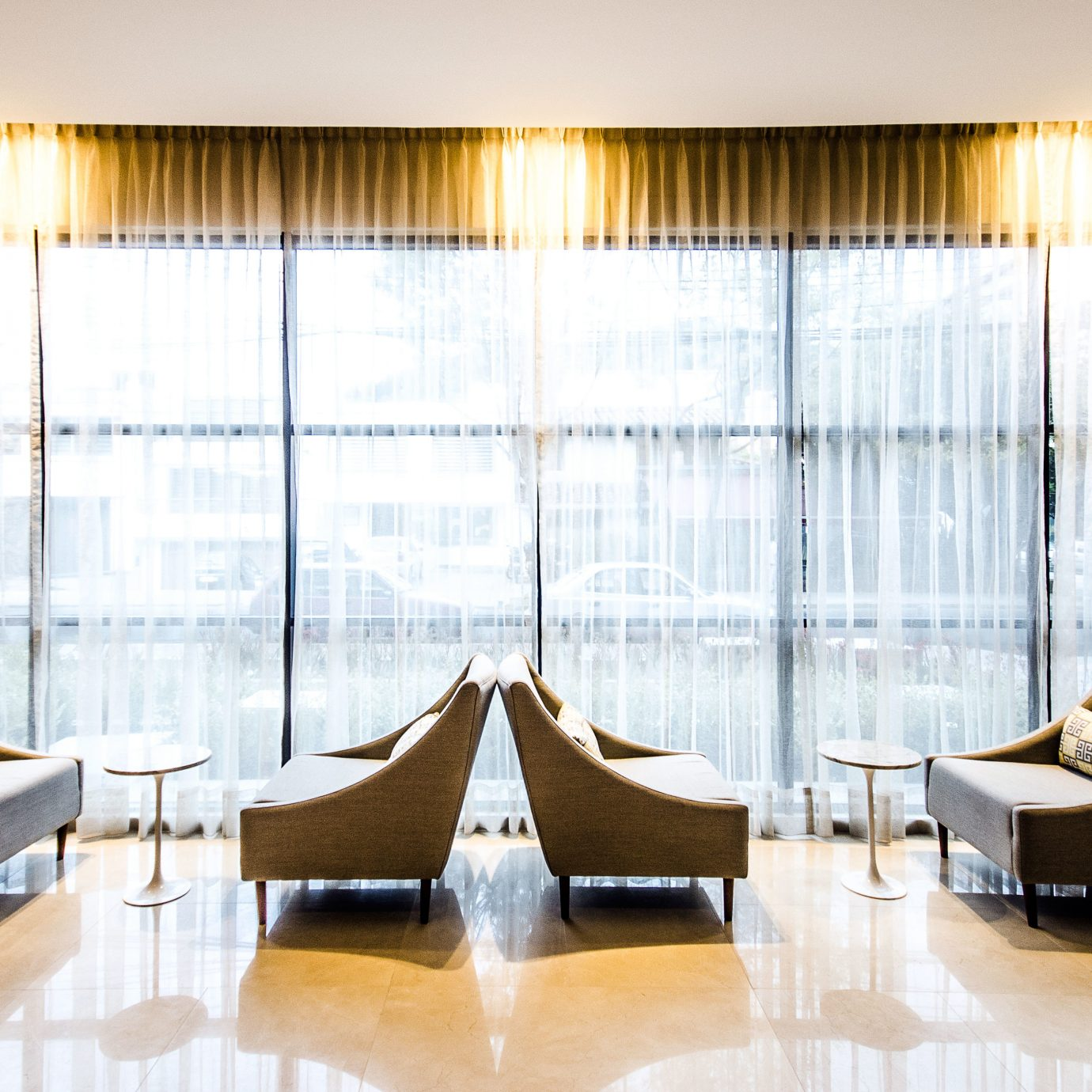 Business City Lobby Lounge Modern function hall Suite curtain window treatment textile conference hall ballroom living room