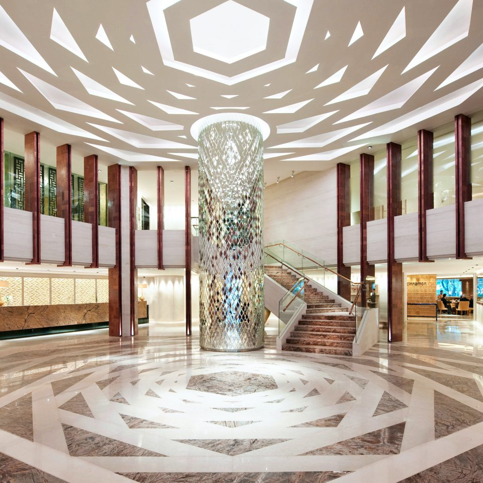 Business City Lobby Luxury convention center ballroom function hall auditorium hall headquarters mansion colonnade
