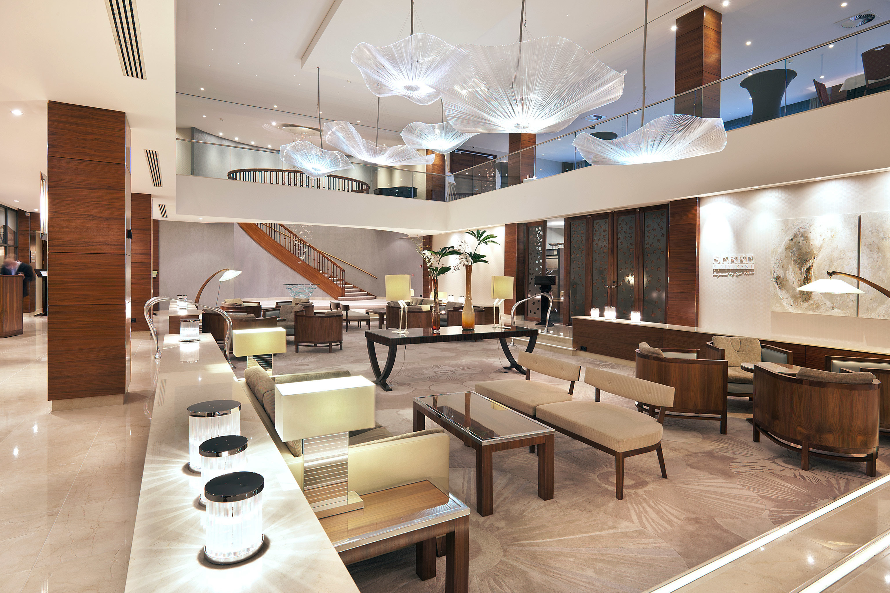 Business City Lobby Luxury property condominium lighting living room restaurant conference hall