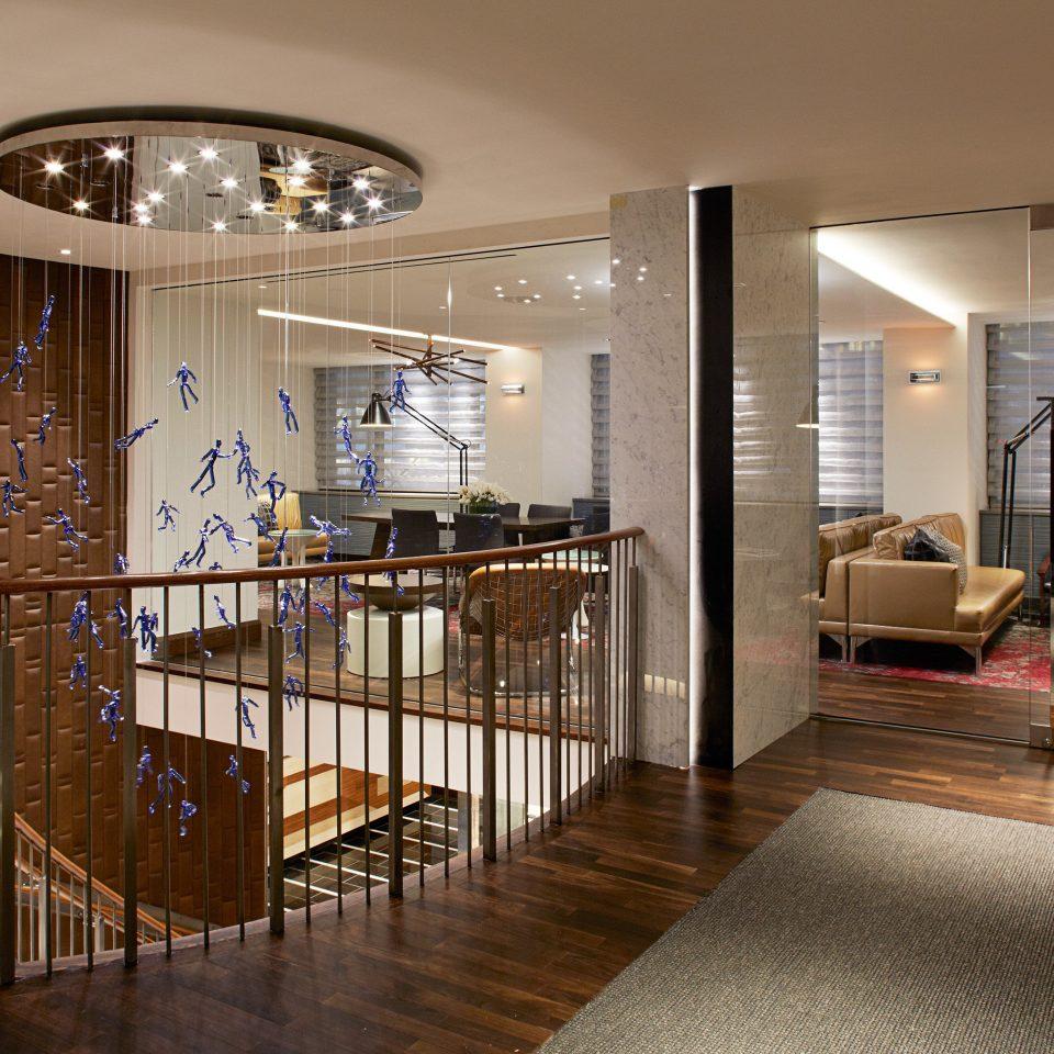 Business City Lounge Modern property home hardwood living room lighting wood flooring