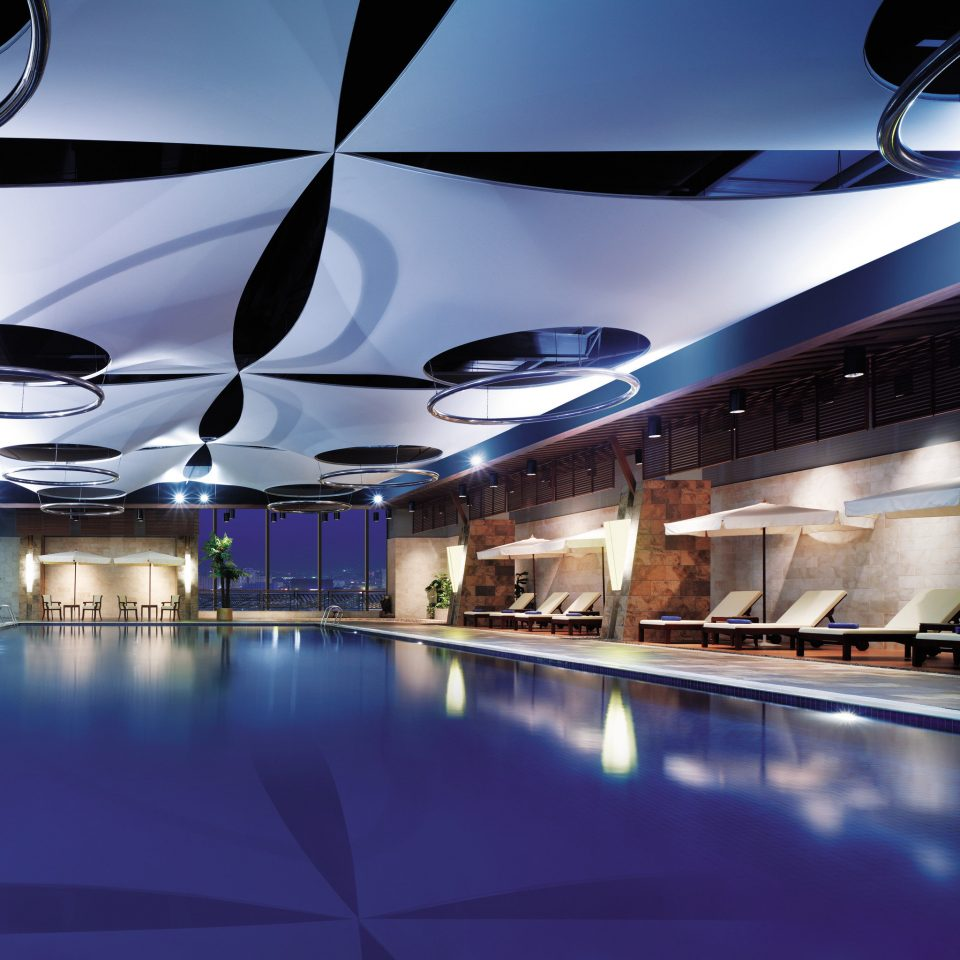 Business City Modern Pool swimming pool lighting convention center