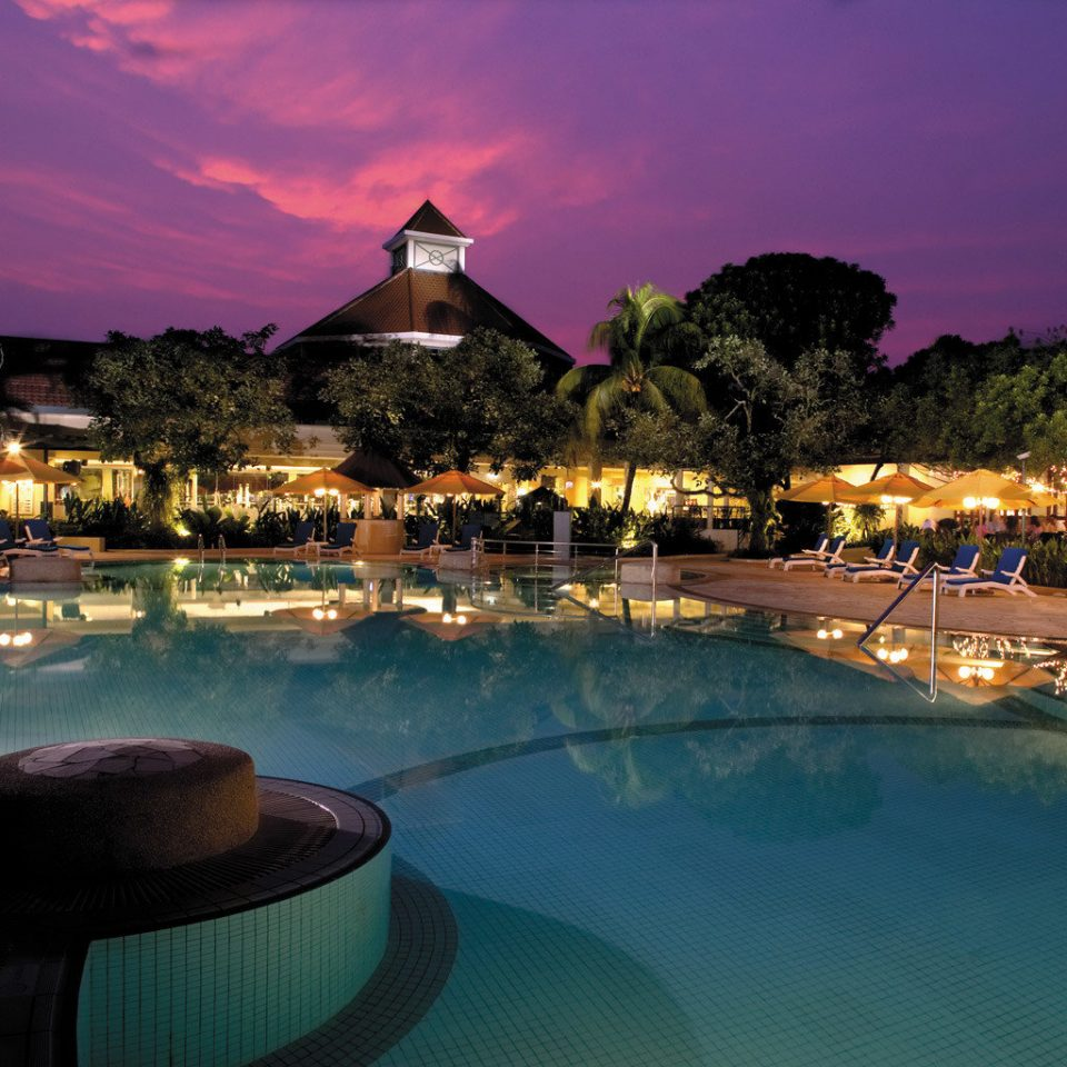 Business City Pool Resort water swimming pool Nature evening dusk Sea night dark