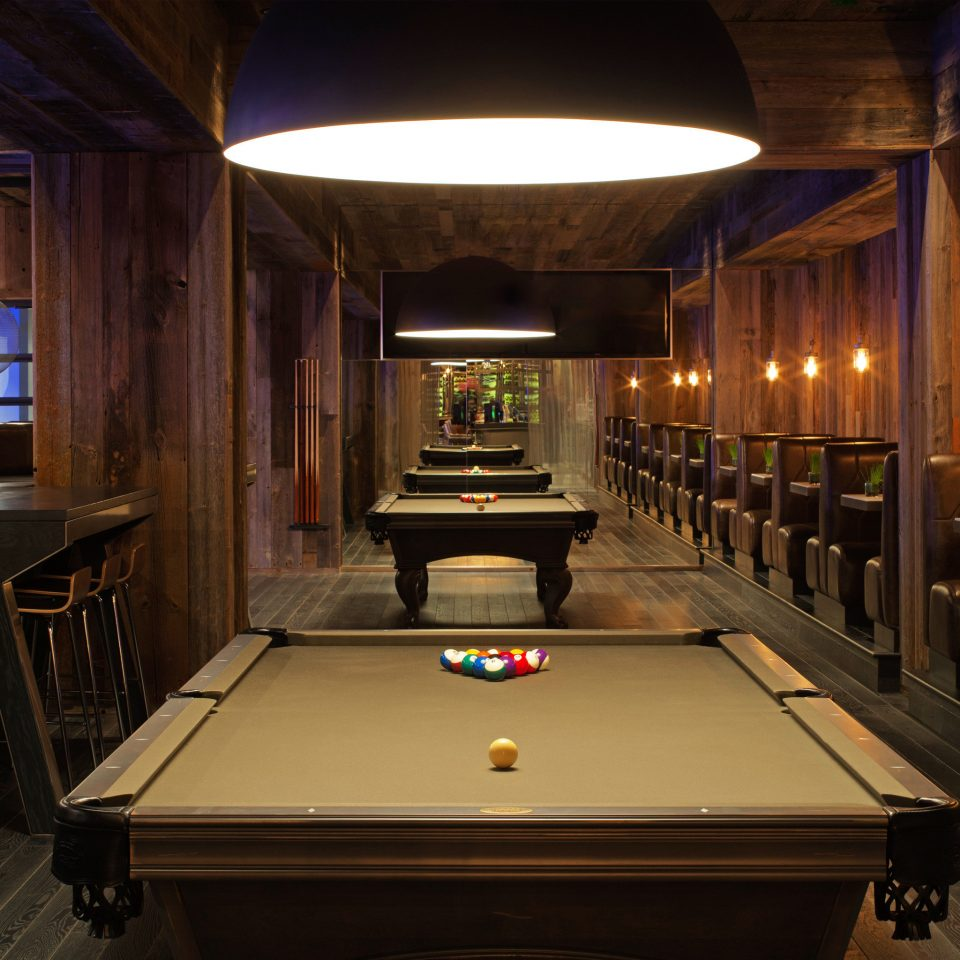 Business Dining Drink Eat Entertainment Hip Lounge Modern billiard room recreation room games cue sports Pool billiard table recreation indoor games and sports mansion