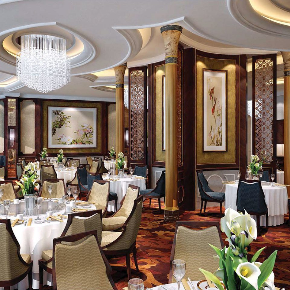 Business Dining Drink Eat Luxury function hall restaurant Resort palace ballroom Lobby mansion Suite set dining table