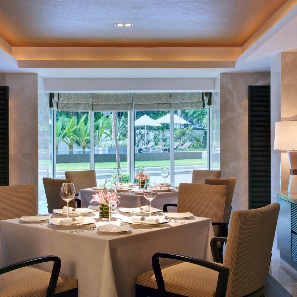 Business Dining Elegant Luxury chair property restaurant Resort condominium home Suite living room Villa Island dining table