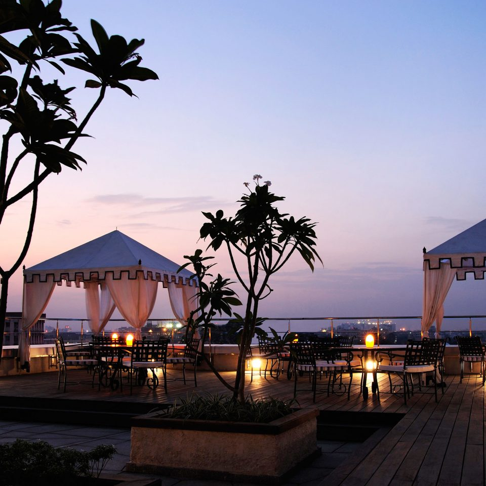 Business Elegant Grounds Luxury Outdoors Patio Romantic Rooftop sky Resort tree night evening dusk Sunset