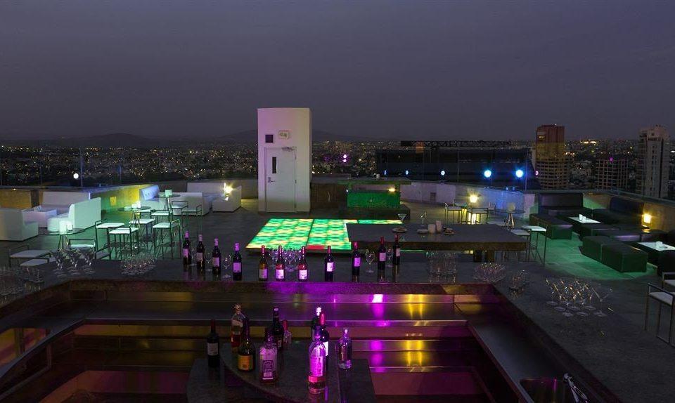 Business Exterior Modern night metropolis evening cityscape skyline light screenshot highway