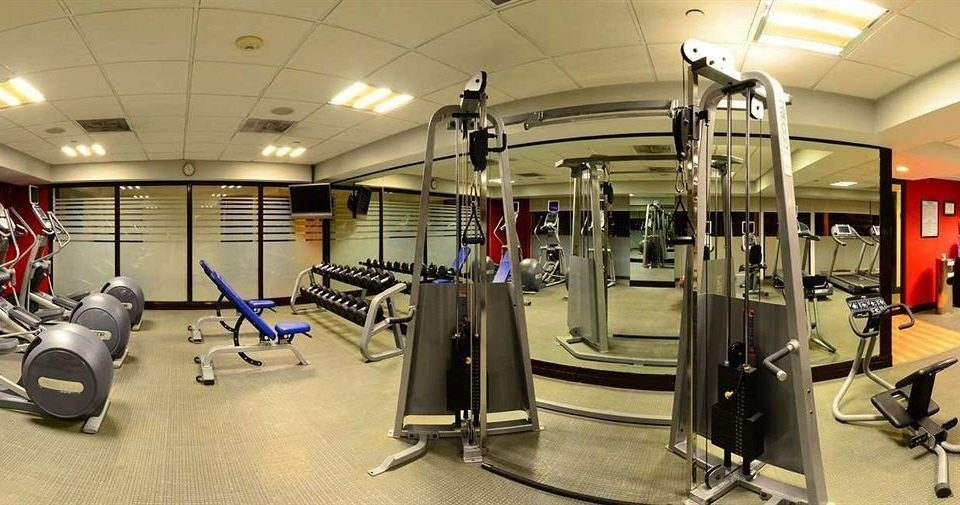 Business Fitness Modern structure gym sport venue physical fitness