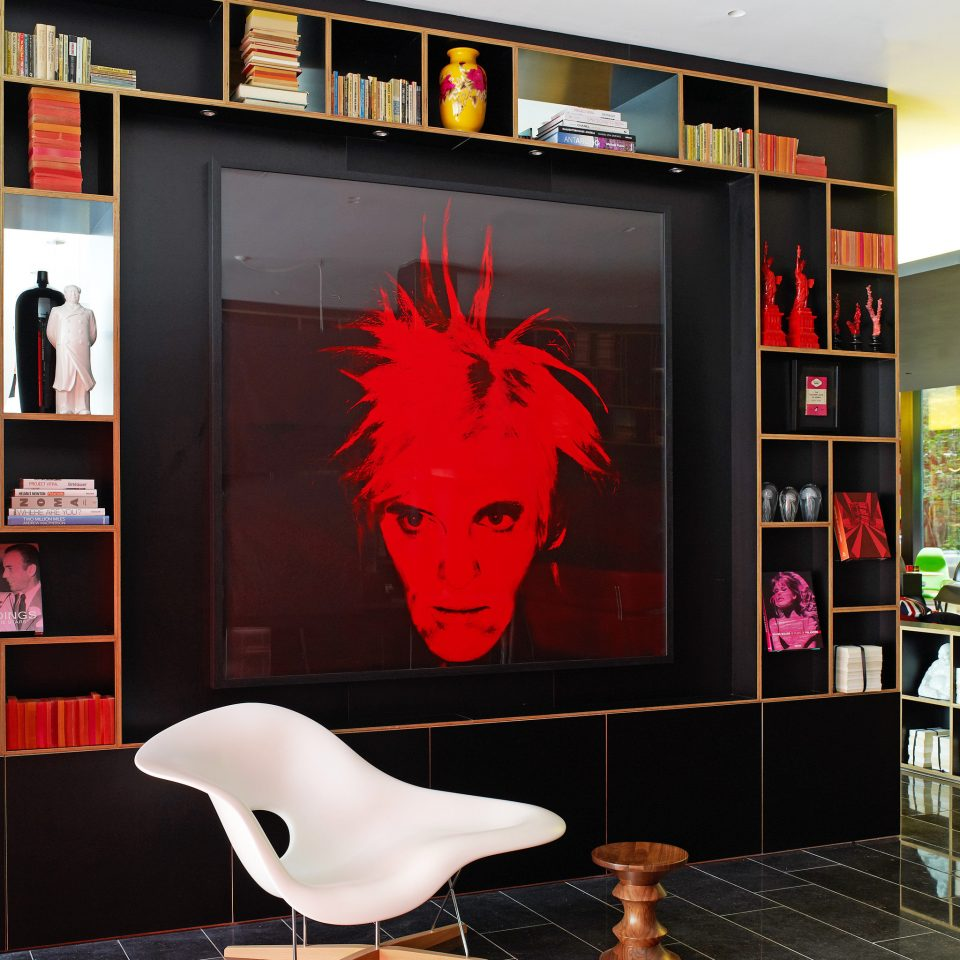 Business Hip Lounge Modern color red modern art living room display device display window retail