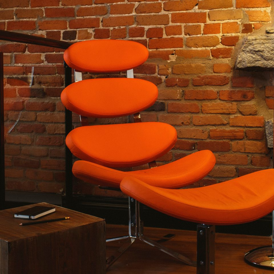 Business Luxury Modern orange man made object brick seat chair living room