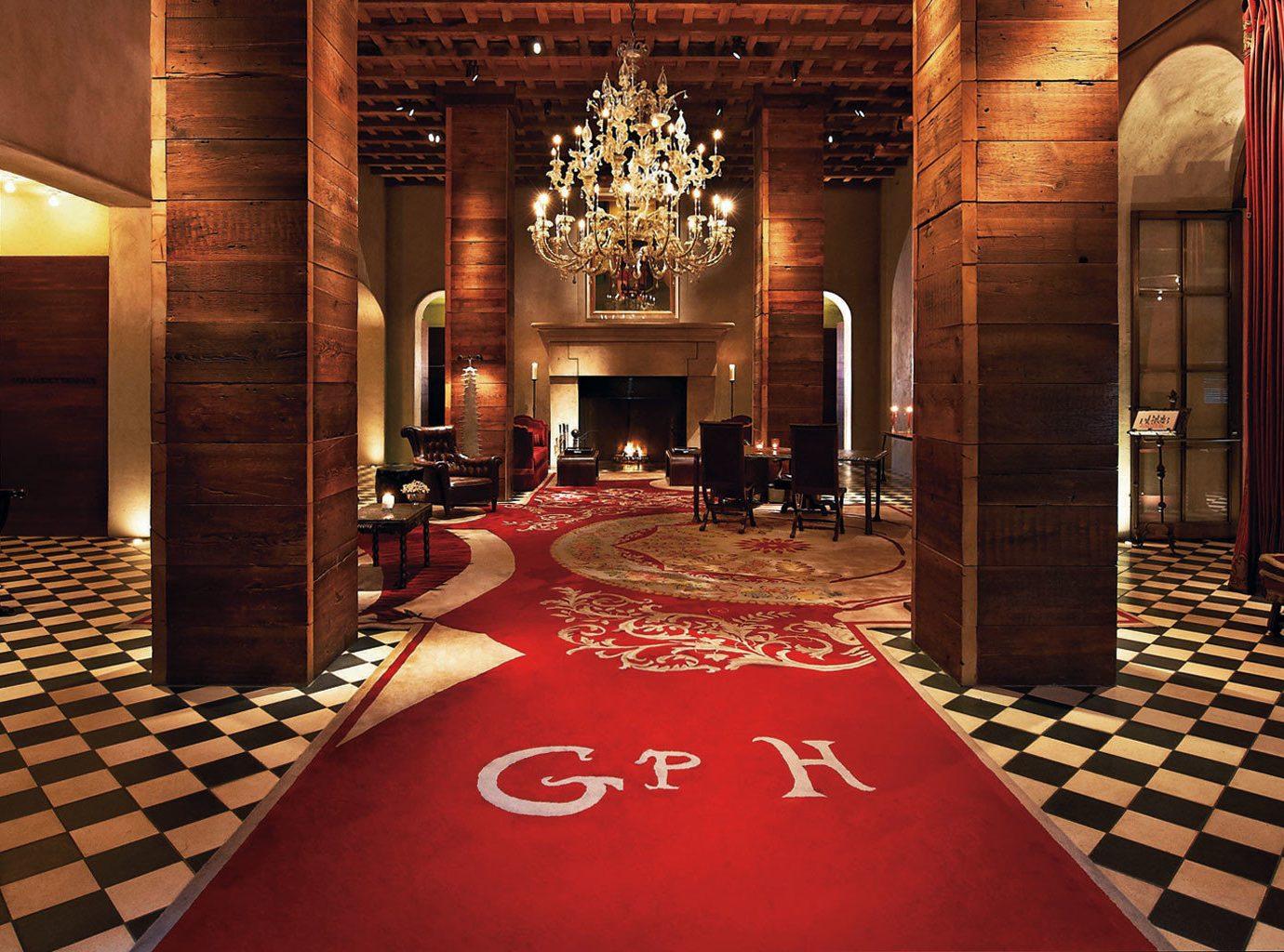 Hotels floor indoor Lobby room aisle red flooring function hall interior design estate ballroom furniture
