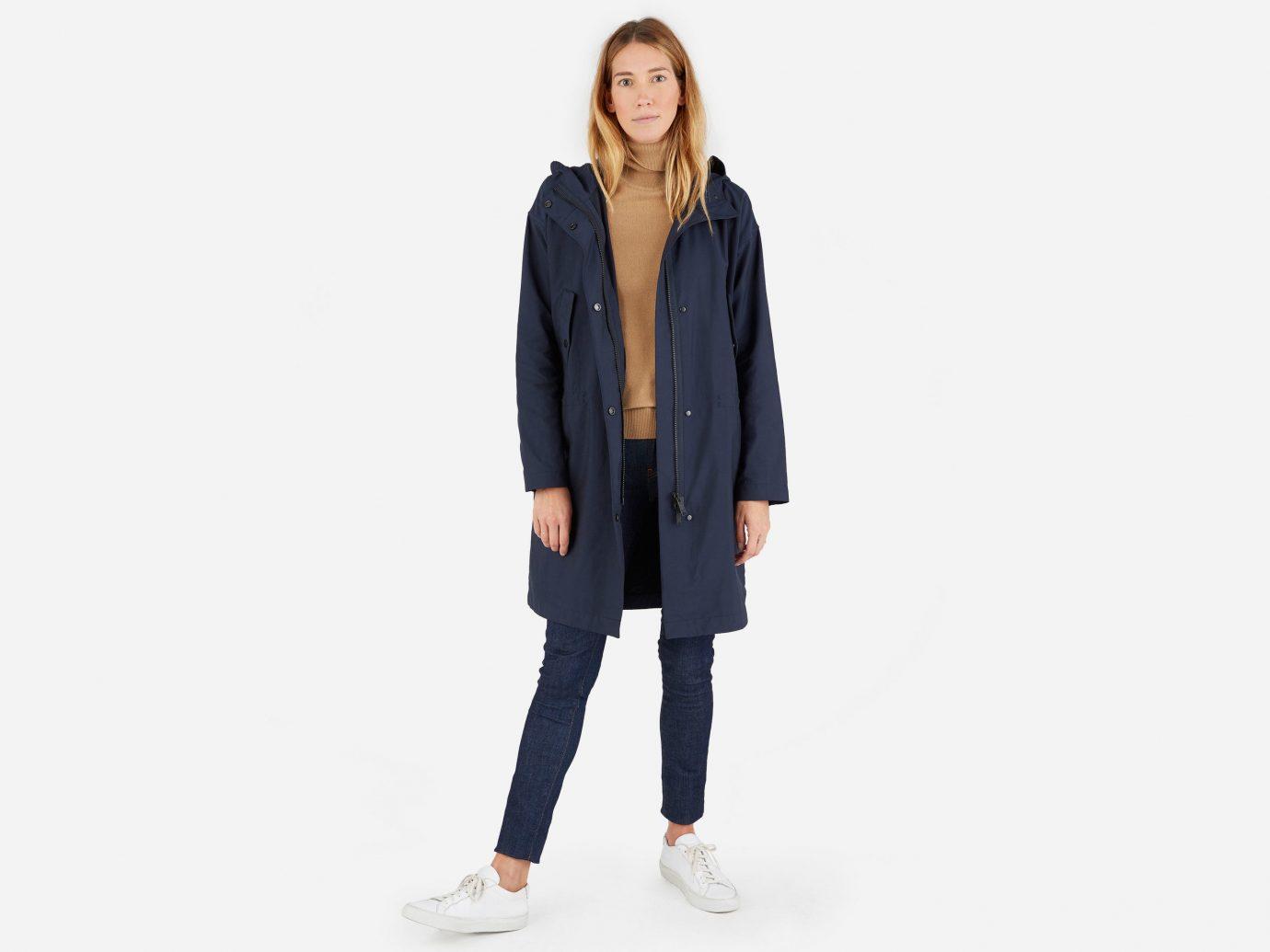 Style + Design clothing outerwear jacket suit denim standing sleeve footwear leather spring pattern textile coat blazer pocket photo shoot posing dressed trouser