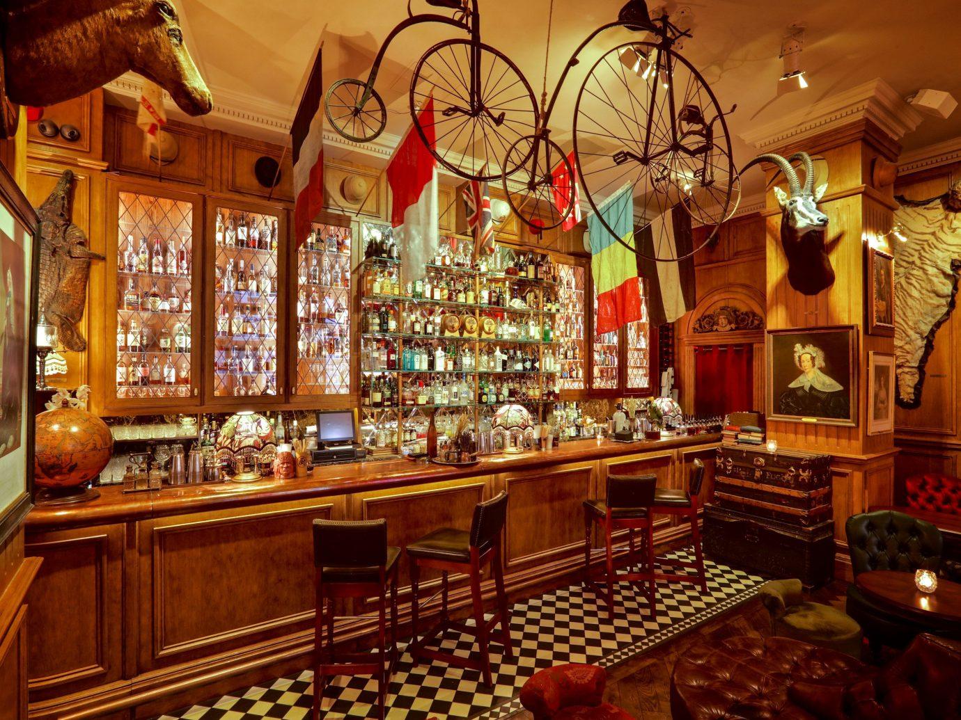Food + Drink Trip Ideas indoor Bar interior design tavern pub restaurant wood café several