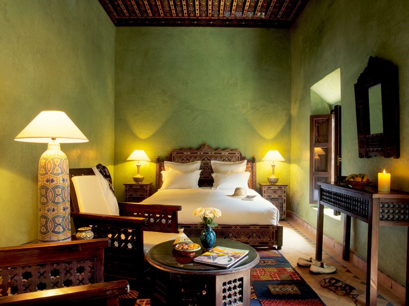 Bedroom at Dar Les Cigognes, Marrakech, Morocco