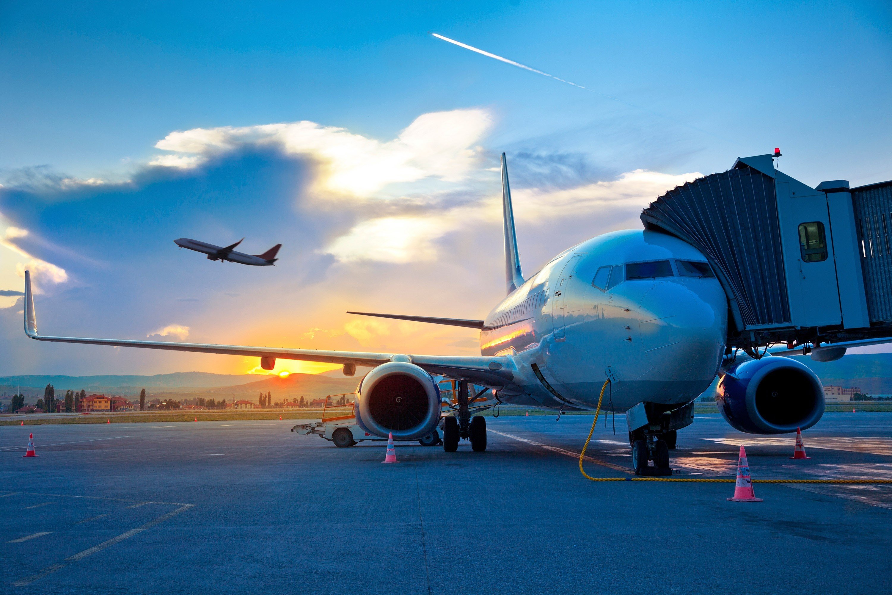 Flights Travel Tips sky plane airline airplane outdoor airliner air travel aircraft vehicle aviation wide body aircraft atmosphere of earth narrow body aircraft boeing aerospace engineering jet aircraft blue flight air force takeoff runway boeing 767 boeing 777 tarmac aircraft engine boeing 737