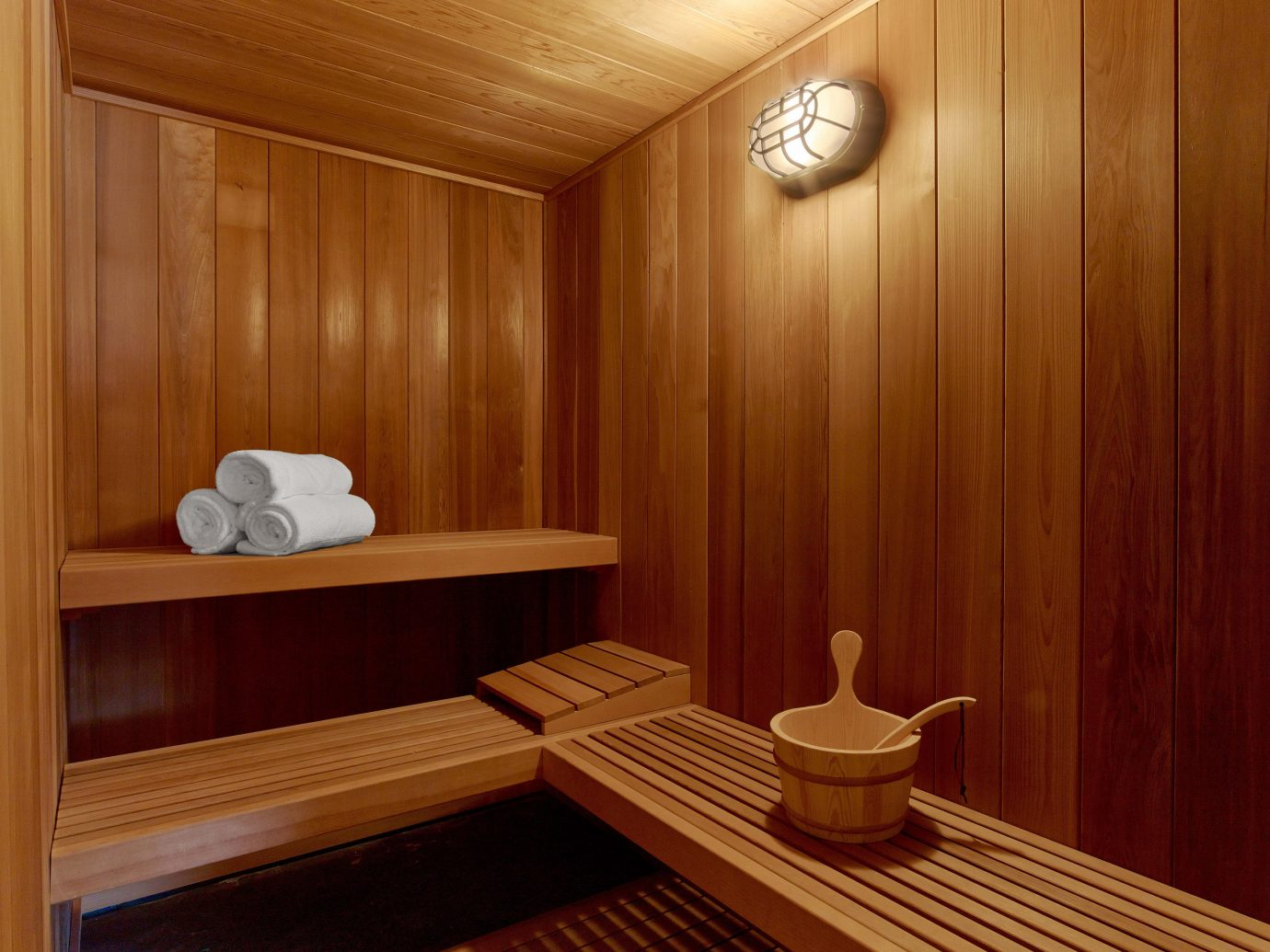 Sauna at The Nobu Villa suite at the Nobu Hotel in Las Vegas