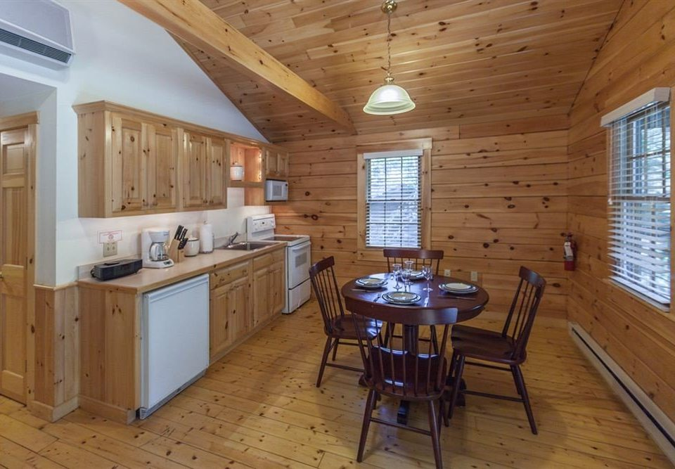Cabin Kitchen Lodge wooden property cottage home hardwood farmhouse Dining cabinetry wood flooring log cabin hard