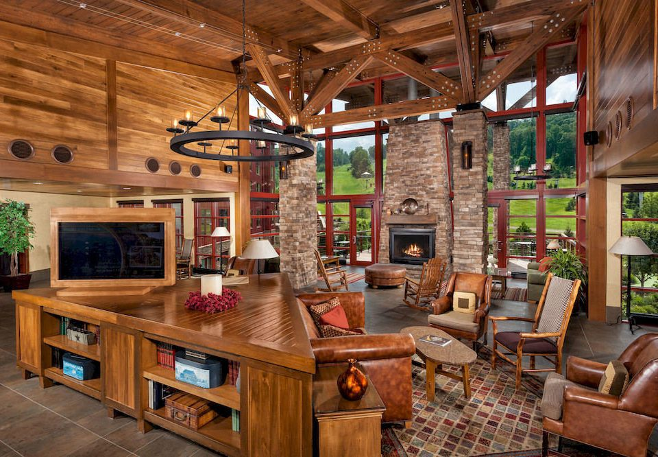 Cabin Lodge Rustic Scenic views property building home house log cabin recreation room living room cottage farmhouse