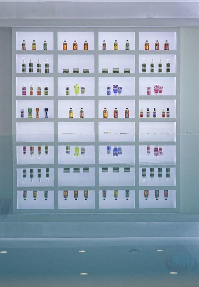 font lighting shelf cabinet