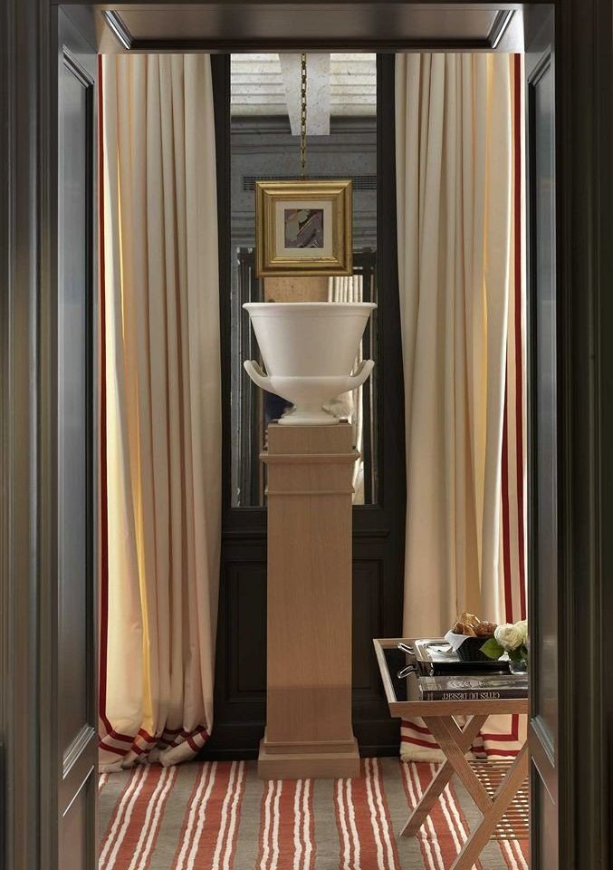 curtain cabinetry textile window treatment hall door