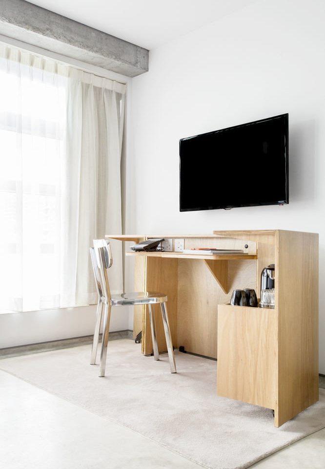 sideboard desk living room cabinetry flat
