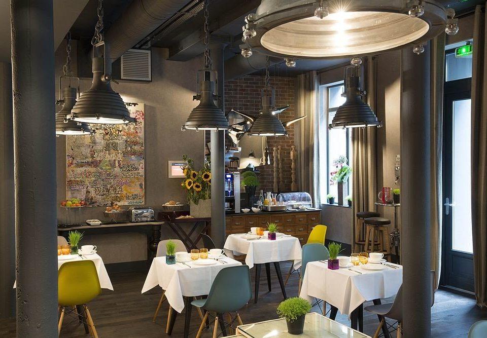 chair restaurant lighting café