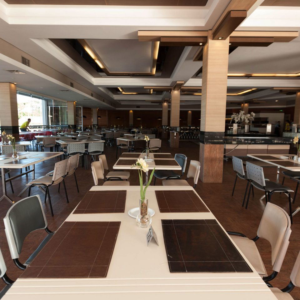 chair restaurant function hall yacht conference hall convention center recreation room cafeteria empty