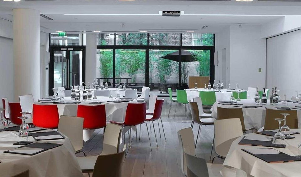 restaurant function hall green conference hall cafeteria dining table