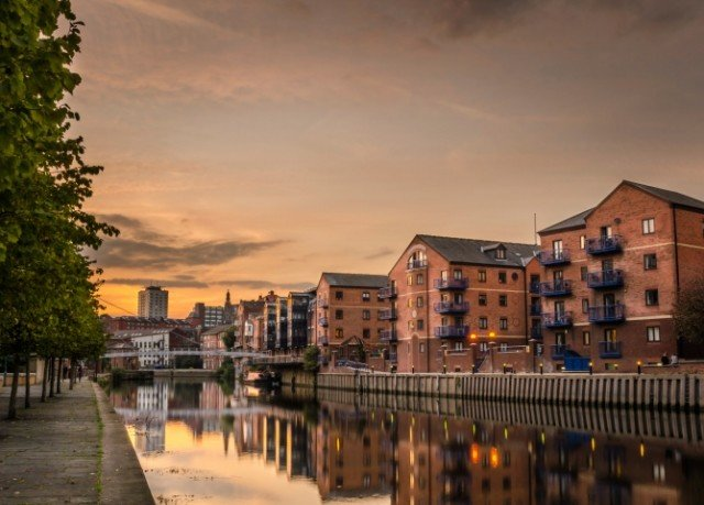 sky cityscape Town City evening waterway Canal morning residential area dusk Downtown skyline panorama Sunset