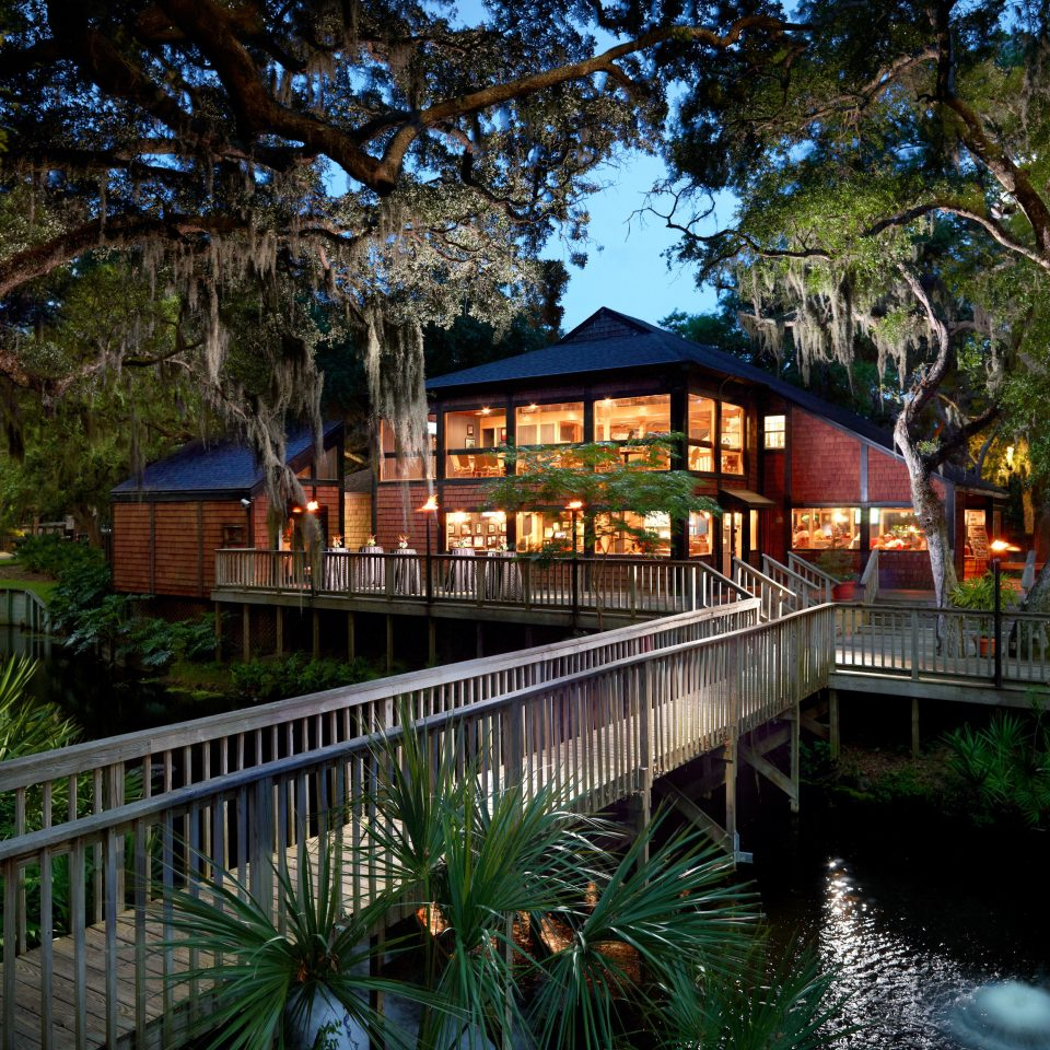 Trip Ideas tree building house green River Resort home waterway flower Garden swimming pool cottage Canal mansion