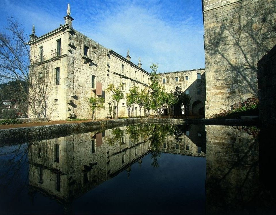 building water castle stone moat waterway château Canal River old castle day