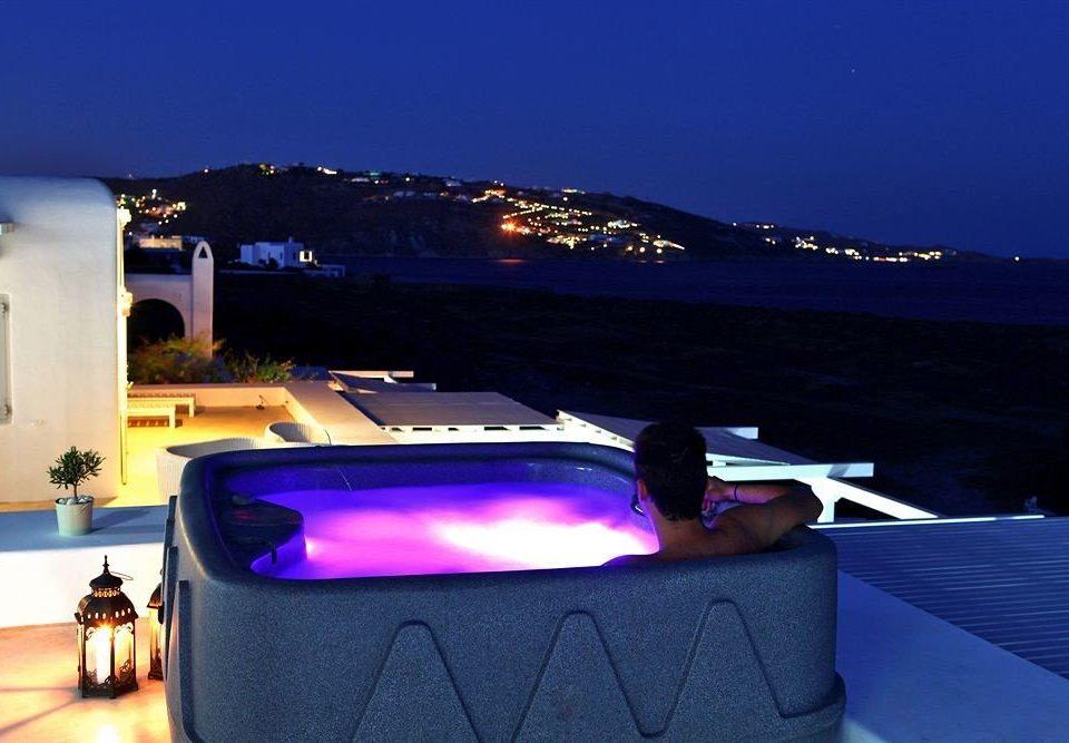 swimming pool light night lighting yacht vehicle car