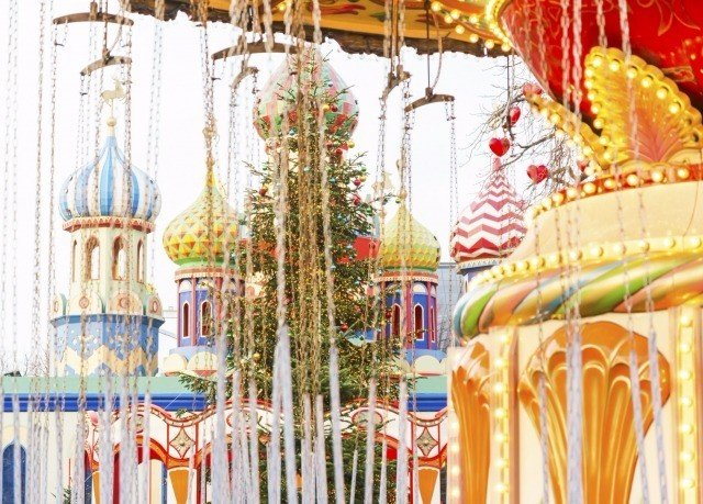 amusement park amusement ride park Carousel textile curtain