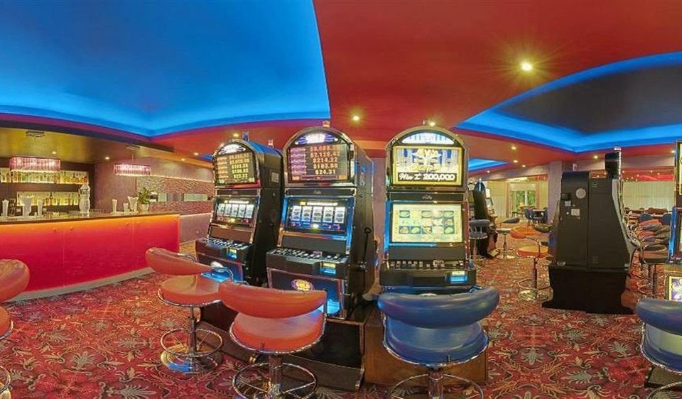 building recreation room Casino blue games set
