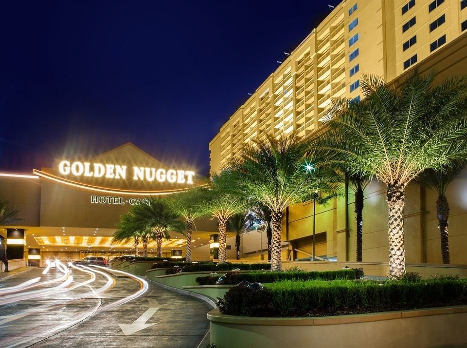 Casino Exterior Resort night landmark plaza Downtown condominium shopping mall light