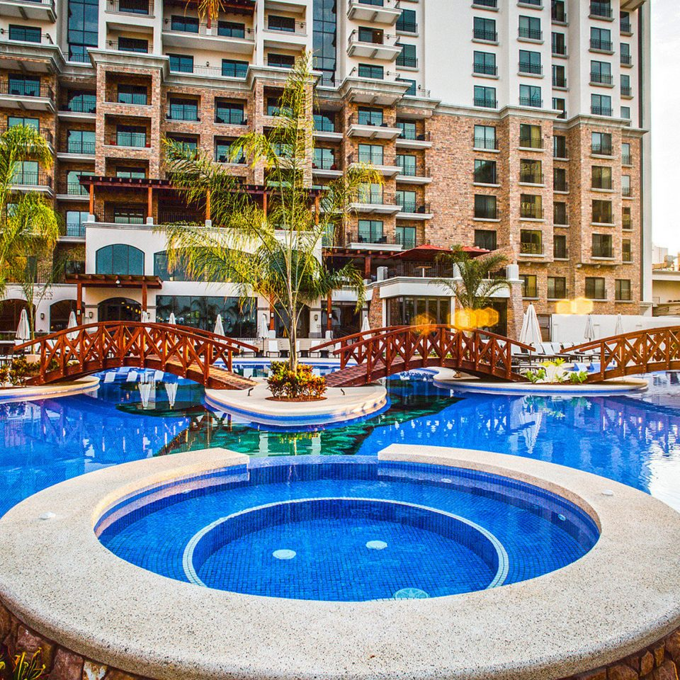 Casino Grounds Pool Resort leisure swimming pool building plaza condominium water feature blue