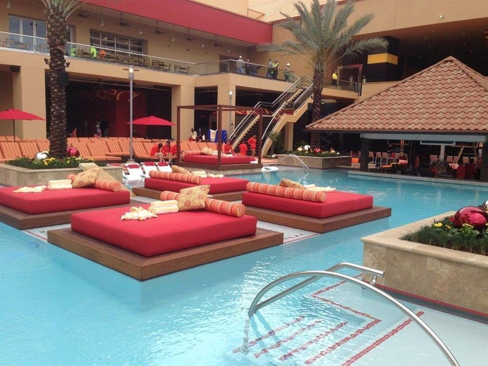 Casino Pool Resort swimming pool leisure property hacienda Villa pink recreation room backyard